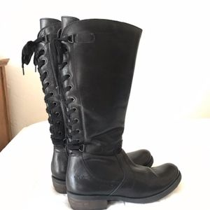 Bos. & Co. Black leather boots